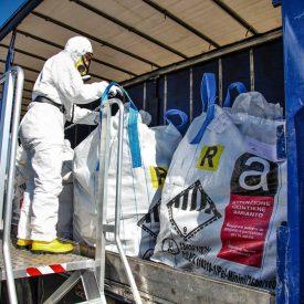 Trasporto e smaltimento rifiuti contenenti amianto