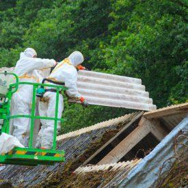 Smantellamento tetti in amianto e ricopertura