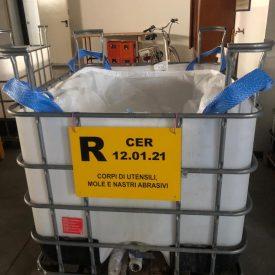 Porta big bag amovibile con bacino di contenimento
