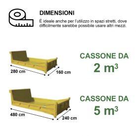 Cassoni appositi per macerie